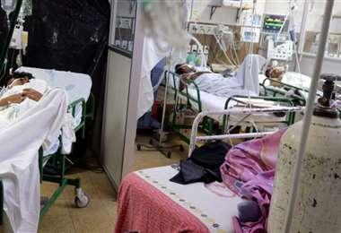 Las unidades de terapia intensiva están colapsadas.