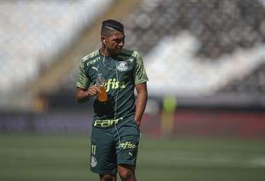 Rony, delantero del Palmeiras. Foto:AFP