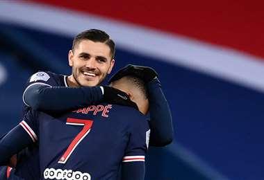 Mauro Icardi, delantero del PSG francés. Foto: AFP