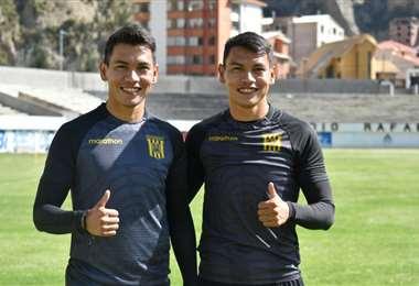 Los hermanos José y Jesús Sagredo, defensores de The Strongest. Foto: Club TS