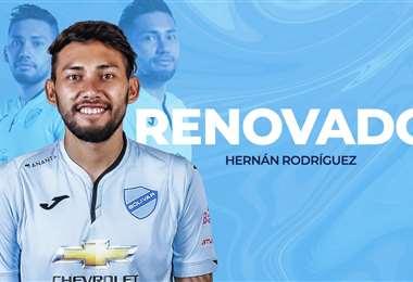 Hernán Rodríguez seguirá una temporada más en Bolívar. Foto: club Bolívar