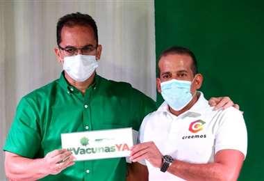 Camacho respalda el plan de vacunación inmediata de Aguilera