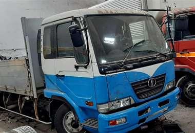 El camioncito recuperado por la Policía