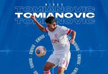 Mirko Tomianovic, volante de 19 años. Foto: club Royal P.