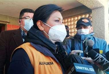 La alcaldesa de El Alto está en cinta y tiene el virus /Foto: La voz de Tarija