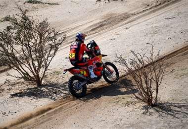 Toby Price en la jornada que inició el Dakar 2021. Foto: AFP