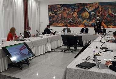 La reunión de los alcaldes con el Presidente (Foto: El Deber)