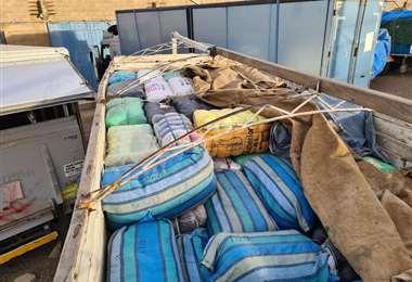 El camión con contrabando se dirigía a Cochabamba