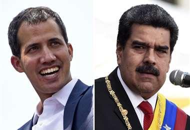 Juan Guaidó y Nicolás Maduro/Foto: AFP