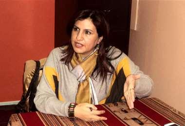 La exmilitante del MAS, Rebeca Delgado.