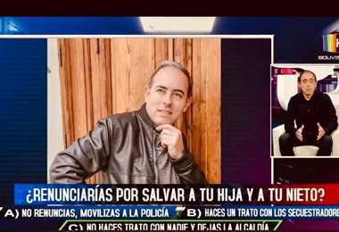 Dockweiler, durante su entrevista en Bolivisión.