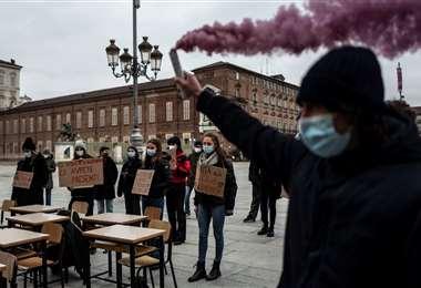 En Italia hay protestas contra el confinamiento/Foto: AFP