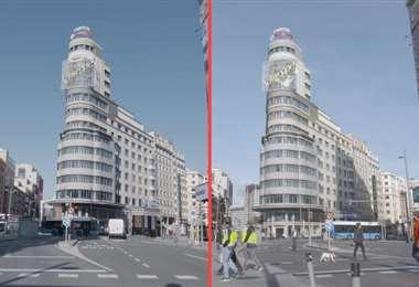 Madrid, con y sin confinamiento/Foto: El País