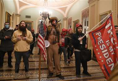Seguidores de Trump ingresaron al Capitolio. Foto AFP