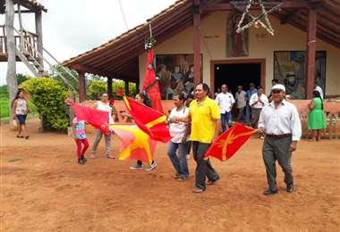 Inicio del Baile de las Banderitas en San Ignacio de Velasco/Foto Carlos Quinquiví