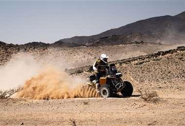 Suany Martínez en plena competencia del Dakar. Foto: internet