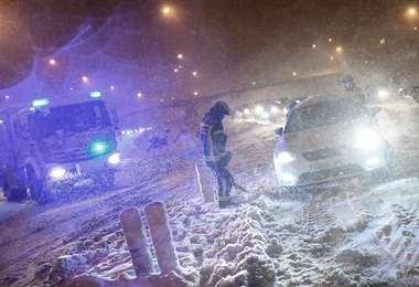 Es la mayor nevada desde 1971 /AFP