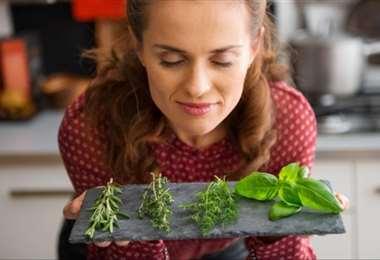 Oler hierbas aromáticas ayuda a estimular el olfato y a recuperarlo
