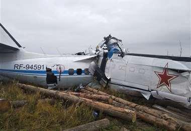 Accidente aéreo en Rusia /Foto: AFP