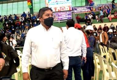 Chinahuanca en un acto en el municipio de la Guardia/Foto: Redes