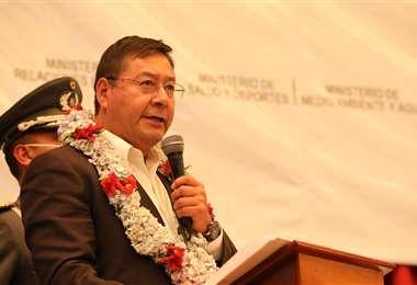 Luis Arce durante un acto en La Paz I ABI.