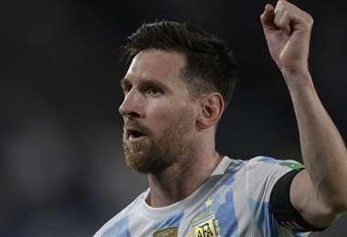 Messi marcó el primer gol de Argentina contra Uruguay. Foto: AFP