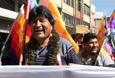 Evo Morales en Cochabamba I redes.