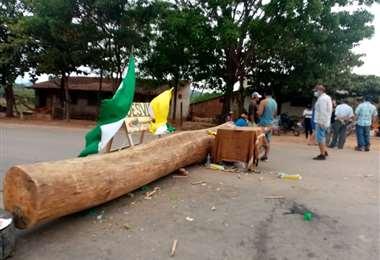 En Ascensión apostaron por los bloqueos de vías. /Foto: Désther Agreda
