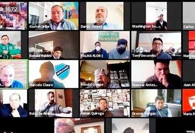 Vuelven las reuniones virtuales en la División Profesional. Foto: Internet