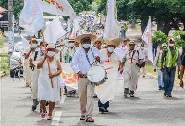 La marcha indígena que salió de Trinidad, llegó el 30 de septiembre a Santa Cruz