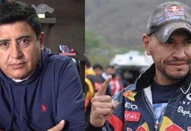 Grover Vargas y Herald Antezana, candidatos en Wilstermann. Fotos: Internet