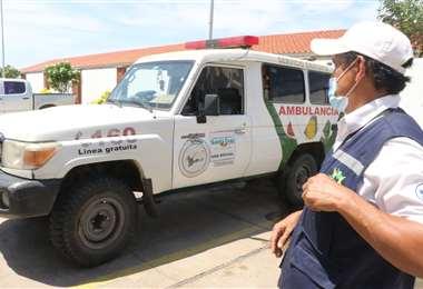 Denuncian deterioro de ambulancias. Foto: JC Torrejón