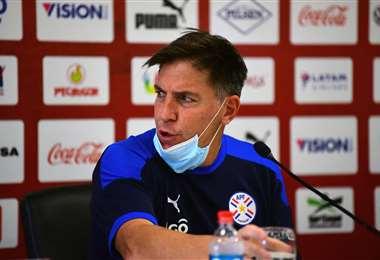 Eduardo Berizzo, entrenador de la selección paraguaya. Foto: AFP