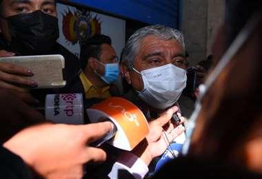 Iván Arias en la Fiscalía I APG Noticias.