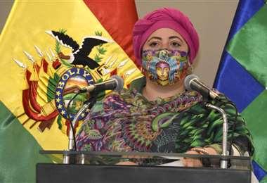El anuncio lo dio la ministra de Presidencia, María Nela Prada