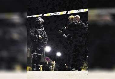 La Policía realiza indagaciones en el lugar del dramático suceso