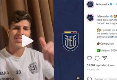 Captura de pantalla del video publicado en Instagram en el que aparece Piero Hincapié
