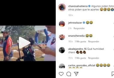 Captura de pantalla del video publicado por Chavo Salvatierra en Instagram