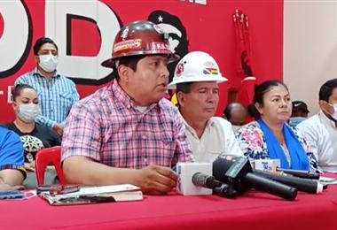 Juan Carlos Huarachi anunció que marcharán el martes en Santa Cruz