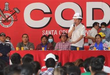 La COB sostuvo un ampliado este jueves en Santa Cruz