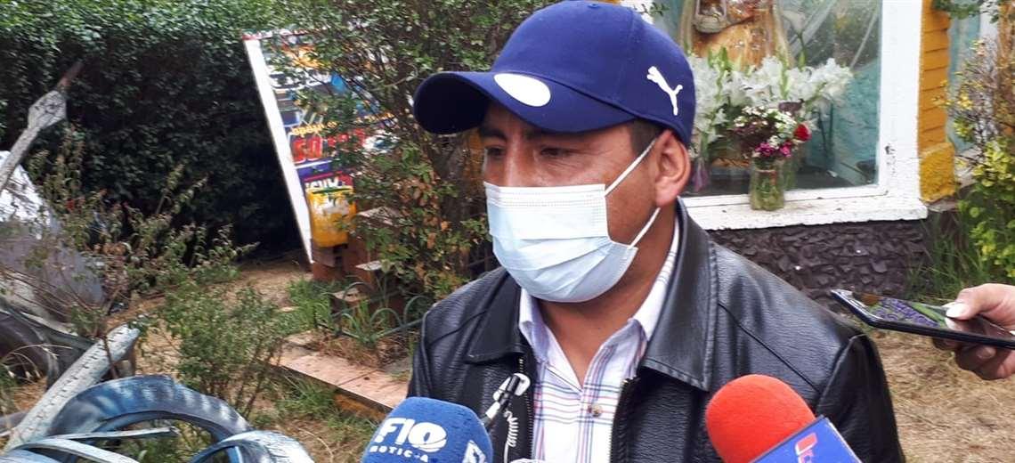 Freddy Rojas dijo que su grupo esperará al Gobernador de Santa Cruz (Foto: Luannitapress)