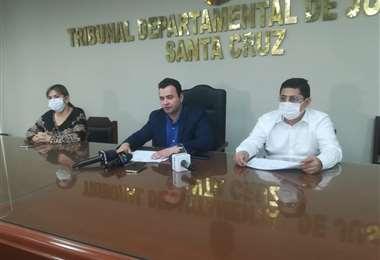 El magistrado Olvis Egüez encabeza las acciones
