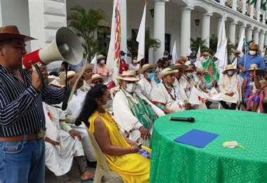 Indígenas agendan reunión con autoridades nacionales para este jueves. Foto: F. Landívar