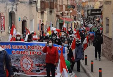 Comcipo convocó también a una marcha para el lunes por la tarde