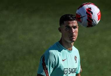 Cristiano Ronaldo, delantero portugués del Manchester United. Foto: AFP