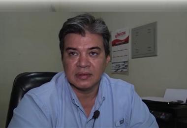Dino Franco, presidente del Comité Cívico de San Ignacio. Foto. Carlos Quinquiví