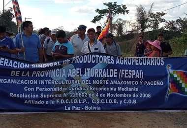 Los campesinos del norte de La Paz quieren llegar a la sede de Gobierno
