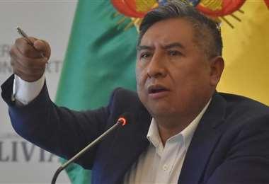 El Canciller en conferencia de prensa (Foto: APG Noticias)