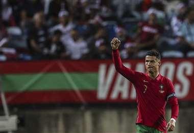 Cristiano Ronaldo, el delantero portugués de los récords. Foto: AFP