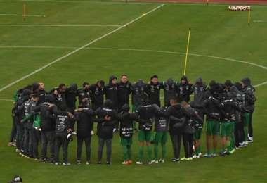 La selección practicó desde el viernes en el Hernando Siles. Foto: APG